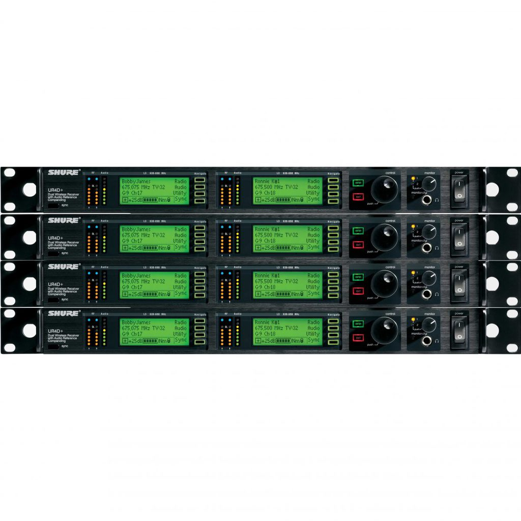 Shure UHF-R Wireless Mic System- 8 Receivers