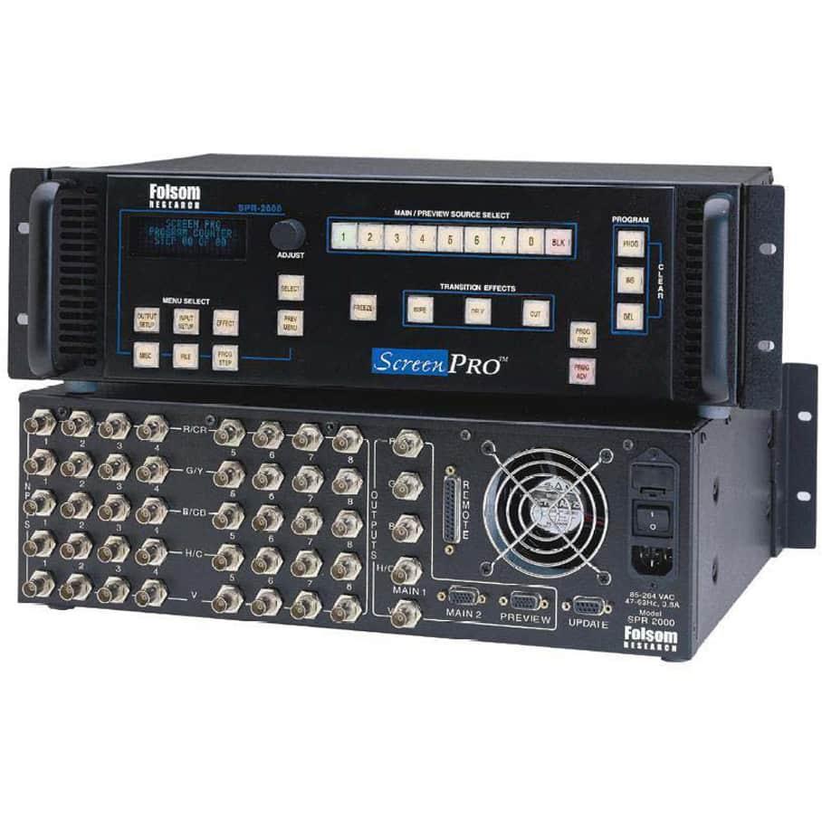 Folsom SPR-2000 ScreenPRO Switcher Kit Plus Monitors