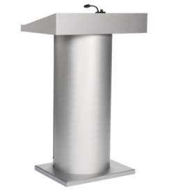 Lectern Custom Frosted Glass/Aluminum Podium