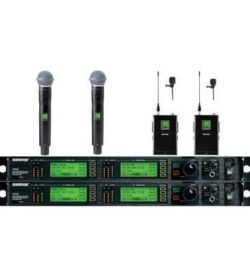 Shure UHF-R Wireless Mic System- 4 Receivers