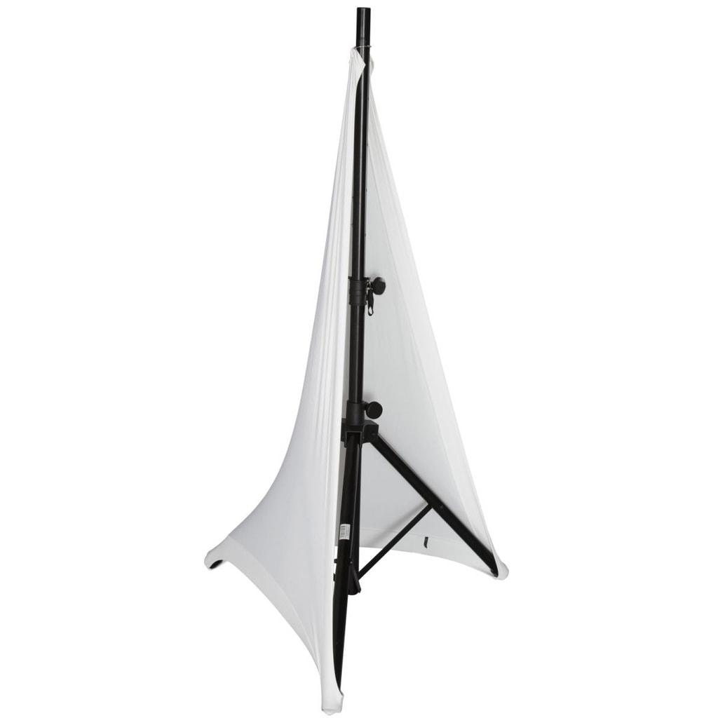 Rent Speaker Stand Cover White Spandex Avrd Rental